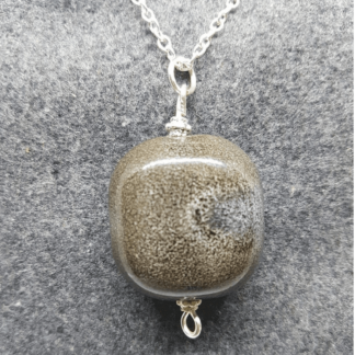 Moss Green Stone Necklace