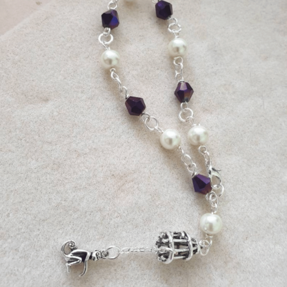 Pearl and Bead Mind Monkey Bracelet