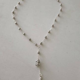 Tibetan Silver Mind Monkey Necklace