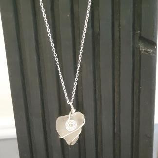 Heart Shaped Sea Glass Pendant